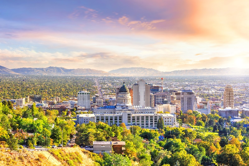 Cities like Salt Lake City, Utah enjoyed close-to-normal rent collections and payments in June.